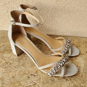 Badgley Mischka Giona Block Heel Sandals 9